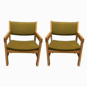 Vintage Armlehnstühle von Hans J. Wegner für Getama, 2er Set