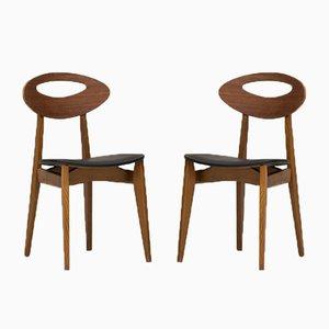 Chaises de Salle à Manger par Roger Landault pour Maison Sentou, France, 1960s, Set de 6