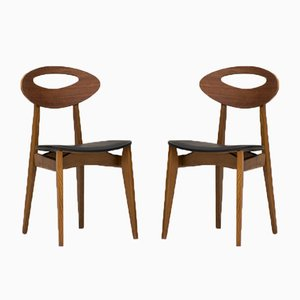 French Dining Chairs by Roger Landault for Maison Sentou, 1960s, Set of 6