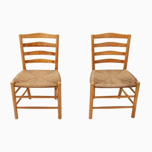 Danish Church Chairs by Fritz Hansen, 1932, Set of 2