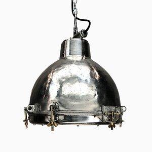 Lampe à Suspension Industrielle Vintage en Aluminium et Verre, Japon, 1970s