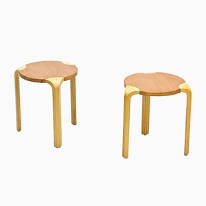 Model X600 Stools by Alvar Aalto for Artek, 1970s, Set of 2
