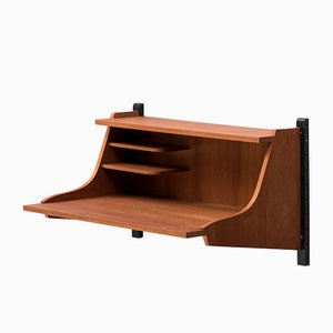 Dutch Floating Wall Desk by Poul Cadovius for Netherlands, 1960s