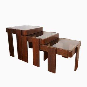 Tavolini ad incastro Mid-Century di Gianfranco Frattini per Cassina, Italia, anni '60