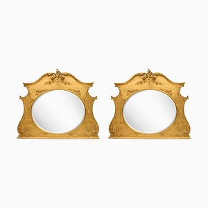 Specchi vittoriani antichi, set di 2