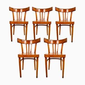 Chaises de Salle à Manger Vintage en Bois de KOK, Set de 5