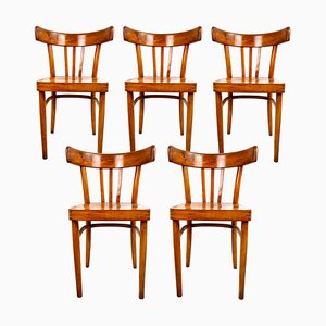 Sedie da pranzo vintage in legno di KOK, set di 5