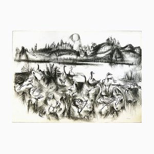 Kreidezeichnung von Paul Kuhfuss, 1950er