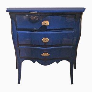 Comò in stile Luigi XV in palissandro blu, anni '50