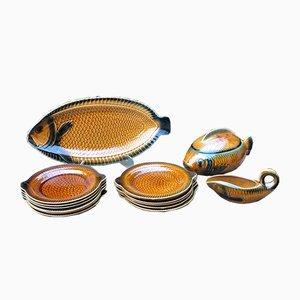 Mid-Century Tableware Set by Sarreguemines, Set of 15