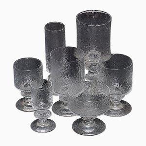 Bicchieri di Timo Sarpaneva per Iittala, Finlandia, anni '60, set di 84