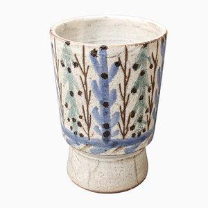 Vaso vintage in ceramica di Gustave Reynaud, Francia, anni '50