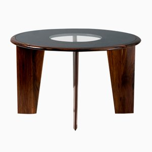 Rosewood and Glass Dining Table by Joaquim Tenreiro, 1950s