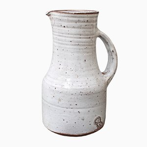 Mid-Century French Ceramic Pitcher by Jeanne & Norbert Pierlot, 1960s