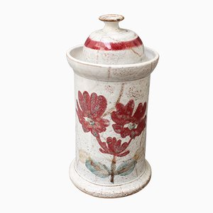 Mid-Century French Ceramic Apothecary Jar by Gustave Reynaud, 1950s