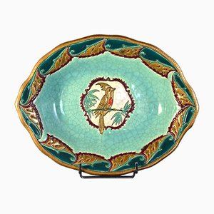 Vintage Enamel Decorative Plate by Paul Maurice Chevallier for Longwy