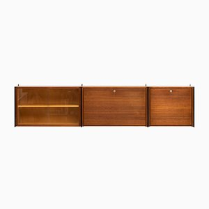 Danish Modular Floating Wall Unit, 1960s