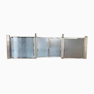 Biombos Art Déco vintage de vidrio. Juego de 2