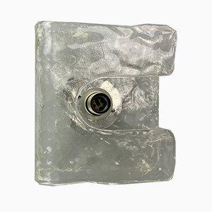 Mid-Century Wandleuchte aus Eisglas von J.T. Kalmar für Kalmar