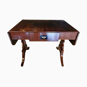 Antique Danish Biedermeier Mahogany Side Table
