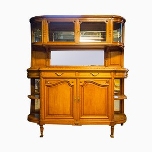 Buffet Antique avec Plateau en Marbre, France, 1900s