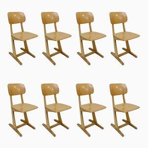 Deutsche Esszimmerstühle aus Eiche von Casala, 1960er, 8er Set
