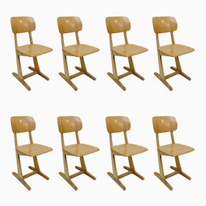 German Oak Dining Chairs from Casala, 1960s, Set of 8