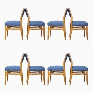 Mid-Century Modell 111 Esszimmerstühle von Gio Ponti für Cassina, 1950er, 8er Set