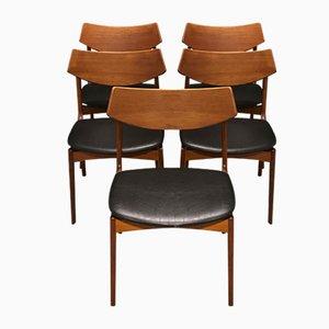 Esszimmerstühle aus Teak von Funder-Smidt & Madsen, 1960er, 5er Set