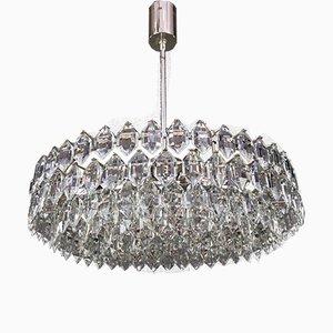 Lámpara de araña plateada de bakalowits para Bakalowits & Söhne, años 60