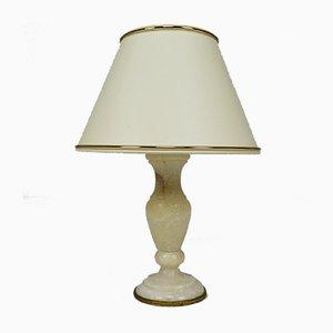 Kleine weiße italienische neoklassizistische Marmorlampe, 1920er