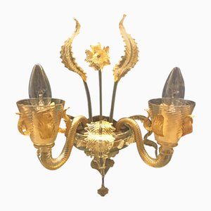 Vintage Murano Glass Sconces, Set of 2