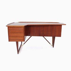 Bureau Boomerang en Teck par Peter Løvig Nielsen pour Løvig, 1964