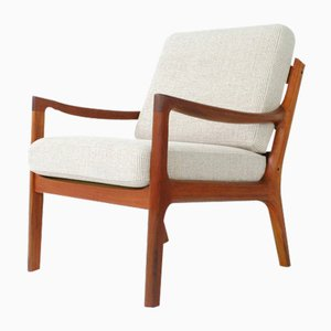 Mid-Century Danish Teak Senator Armchair by Ole Wanscher for Cado