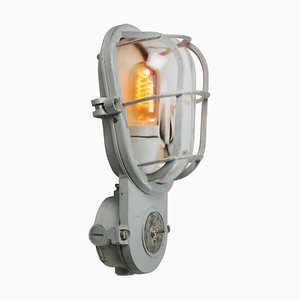 Vintage Industrial Clear Glass Sconce from Industria Rotterdam