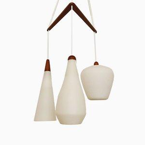 Opaline Glass Cascade Ceiling Lamp, 1960s