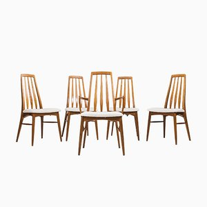Model Eva Dining Chairs from Koefoeds Møbelfabrik, 1960s, Set of 5