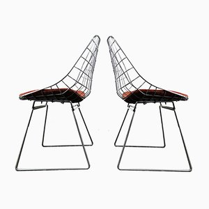 Model SM05 Wire Chairs by Cees Braakman & Adriaan Dekker for Pastoe, 1950s, Set of 2