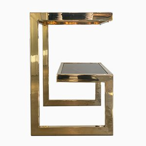 Gold Plated Side Table from Belgo Chrome, 1970s