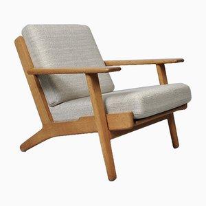 Modell GE290 Sessel mit Gestell aus Eiche von Hans J. Wegner für Getama, 1950er