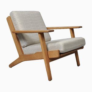 Oak Model GE290 Lounge Chair by Hans J. Wegner for Getama, 1950s
