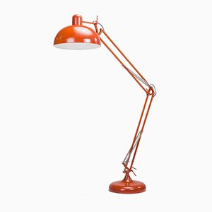 Red Metal Floor Lamp, 1980s