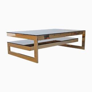 Table Basse en Plaqué Or de Belgo Chrome, 1970s