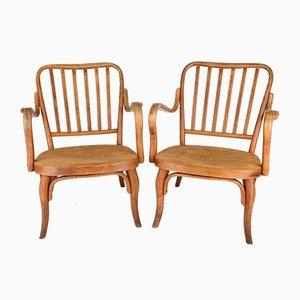 Vintage Nr. 752 Armlehnstühle von Josef Frank für Thonet, 2er Set
