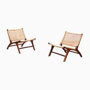 Mid-Century Danish Teak Lounge Chairs, Set of 2