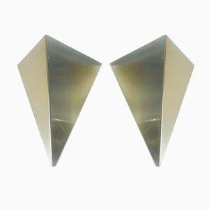 Deutsche Wandlampen aus Metall von Bankamp Leuchten, 1960er, 2er Set