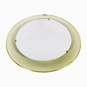 Mid-Century German Metal Mirror from Hillebrand Lighting, 1950s