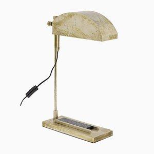 Lámpara de mesa de latón niquelado y granito de Mart Stam & Marcel Breuer, años 20