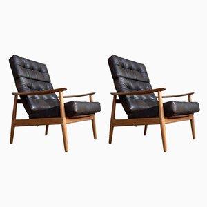 Model FB164 Lounge Chairs by Arne Vodder for France & Søn / France & Daverkosen, 1960s, Set of 2
