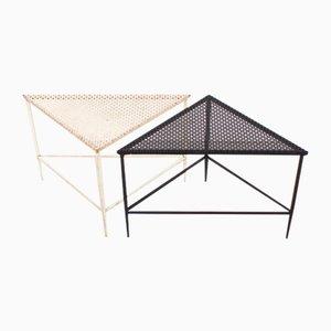 Tables Basses Triangulaires par Mathieu Matégot pour Artimeta, 1950s, Set de 2